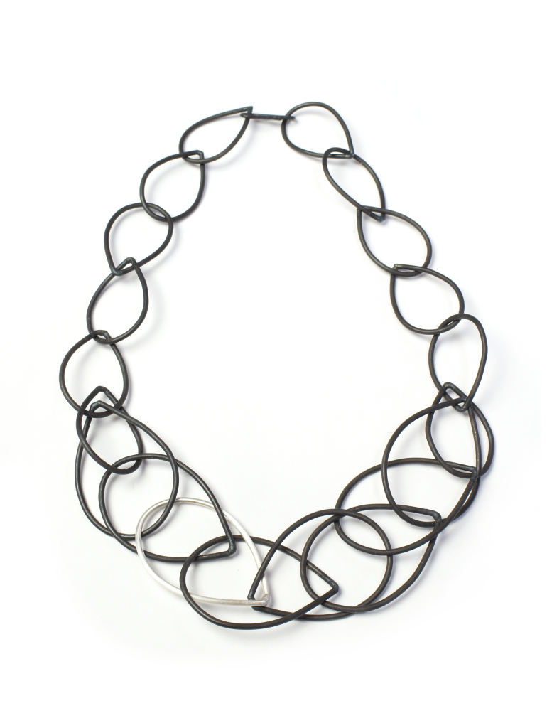 steel and silver eleanor necklace // bold chain link necklace