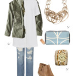 an outfit that transitions from winter to spring