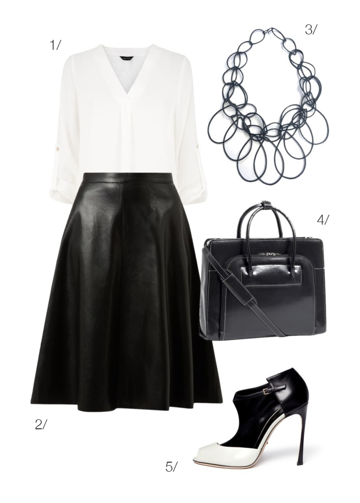 black and white for work // click for outfit details