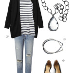 real world look: upgrade a basic outfit with a stunning necklace