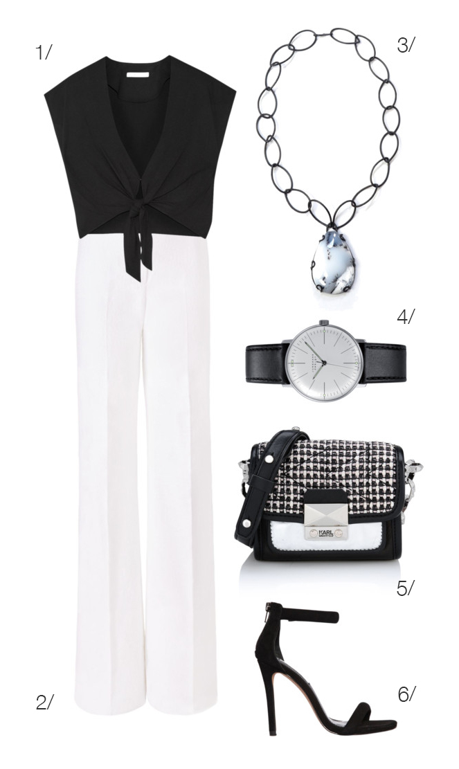 chic, classic, and powerful: black and white summer style