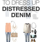 8 ways to dress up distressed denim