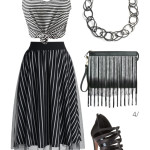 edgy summer style: stripes on stripes on stripes