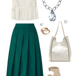 chic summer style: midi skirt and wedges