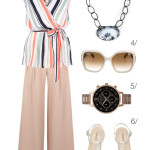 chic summer style: blush and light blue
