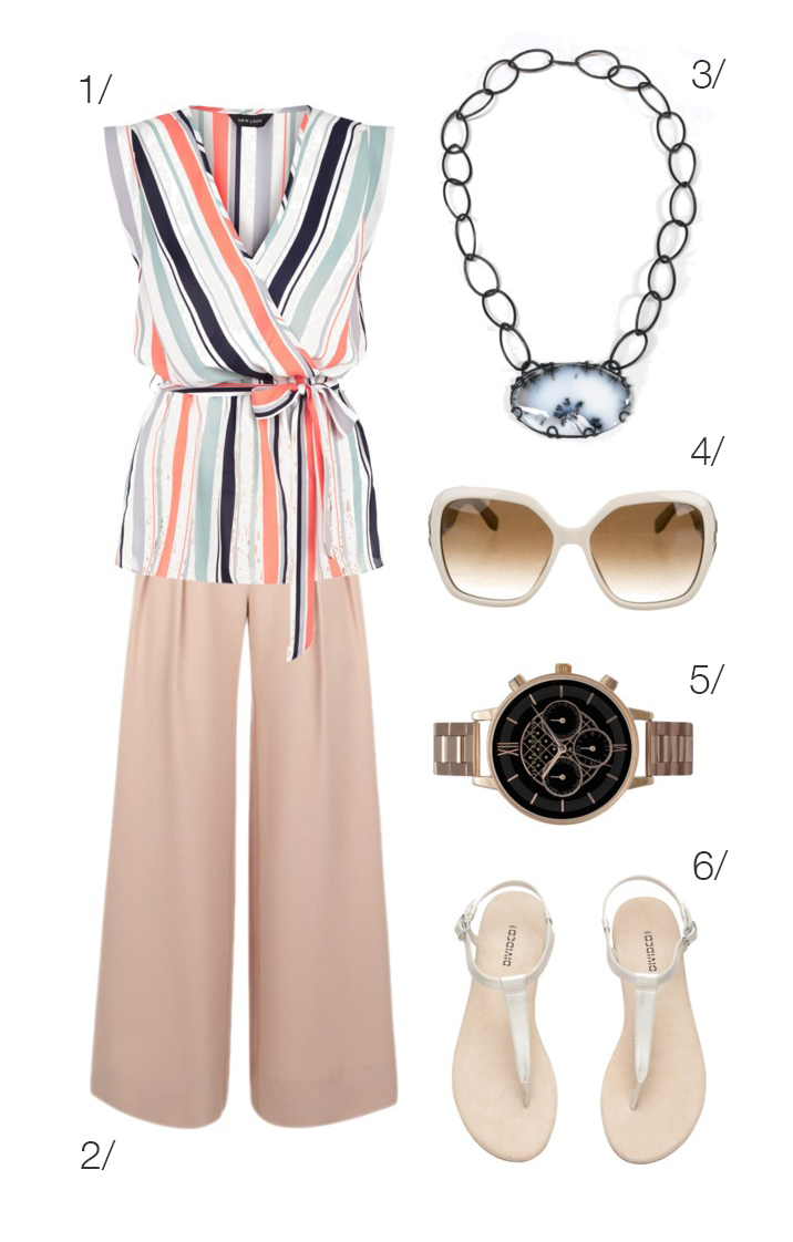 chic summer style: blush, rose gold, and light blue // click through for outfit details
