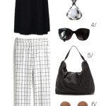 casual yet stylish summer style in black and white