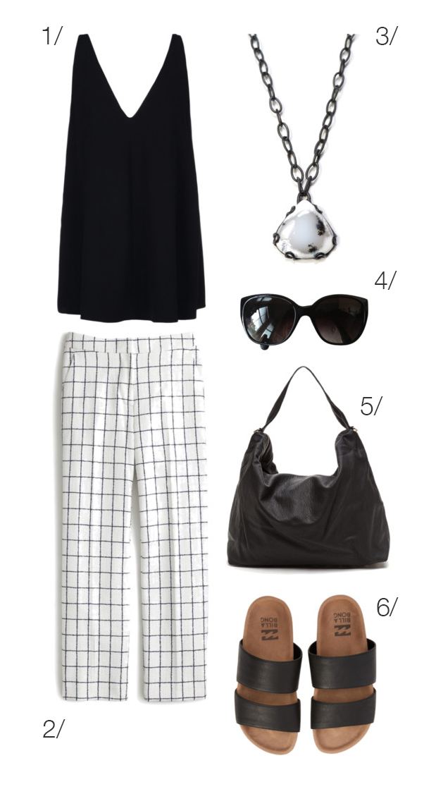 casual and chic summer style in black and white // click through for outfit details