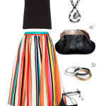 summer party style with a colorful skirt
