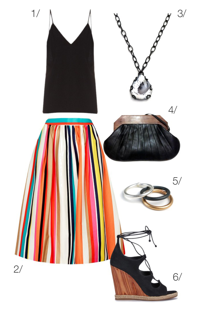 summer party style with a colorful skirt // click through for outfit details