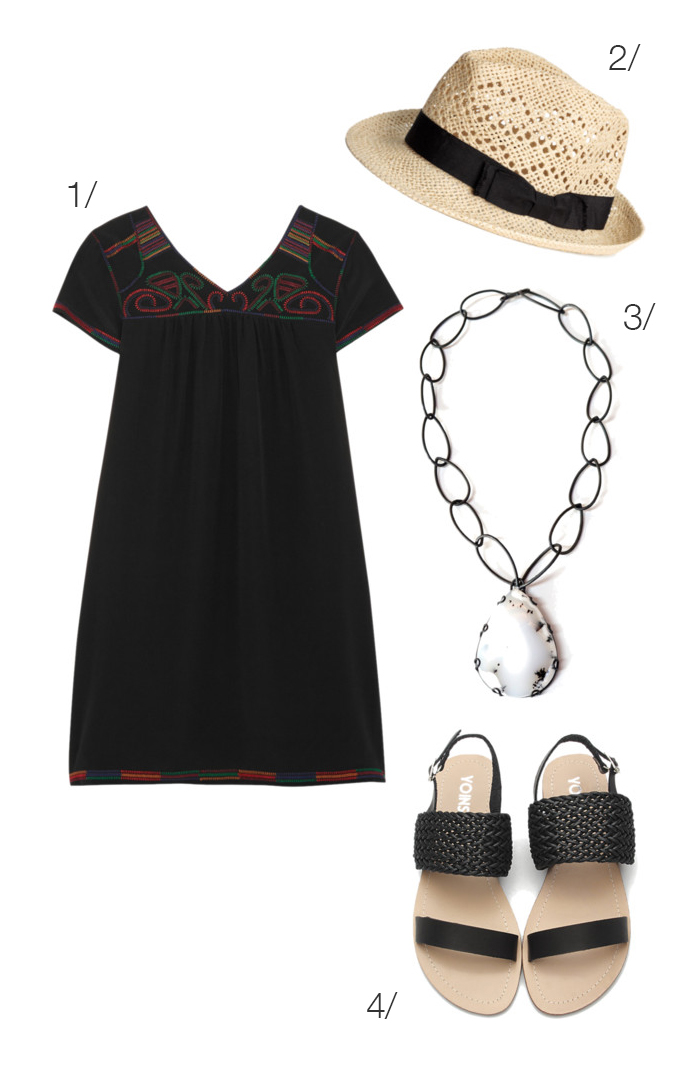the perfect little black dress and statement necklace for summer // click through for outfit details