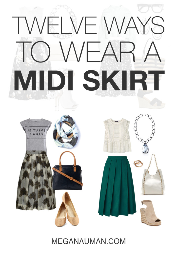 how to wear a midi skirt: 12 stylish outfit ideas to try // click through to see and shop all the looks
