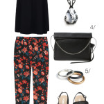 casual and chic summer style: floral print pants