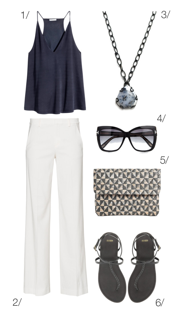 chic summer style: navy, cream, and grey // click through for outfit details