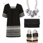 outfit remix: embroidered little black dress for summer