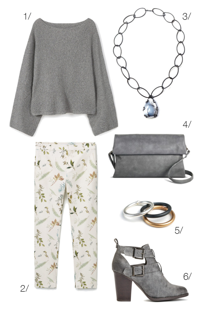 how to wear summery floral pants for fall: click through for outfit details