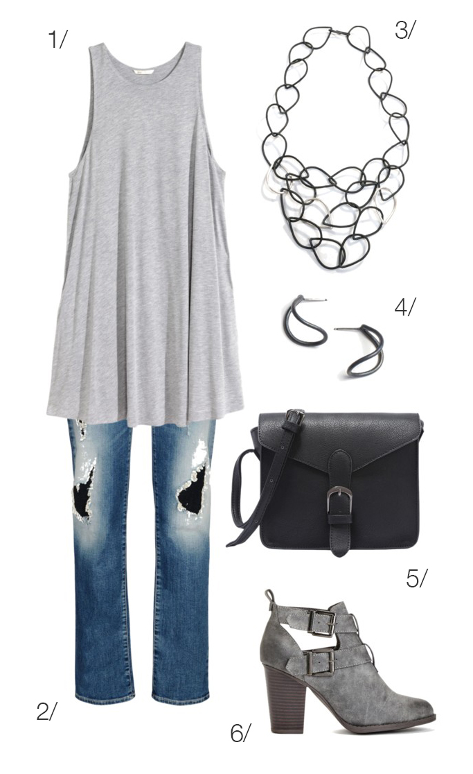 how to wear a summer dress in fall: layer over jeans with ankle booties // click for outfit details