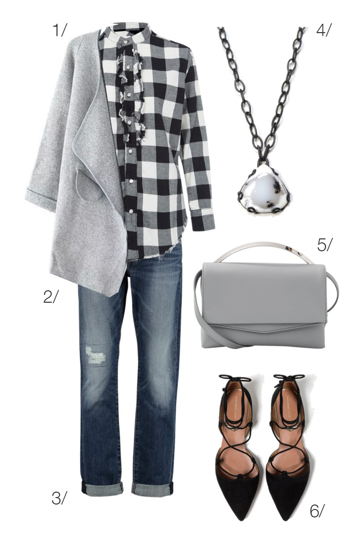 fall style: casual yet dressed up plaid and denim // click through for outfit details