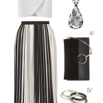 summer style: pleated midi skirt