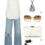 summer style: wide leg jeans and white