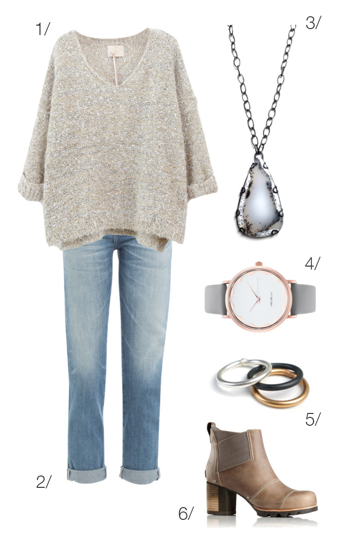 casual fall weekend style: sweater, jeans, ankle boots // click through for outfit details