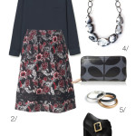 floral midi skirt for fall