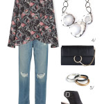 one floral print shirt, two ways