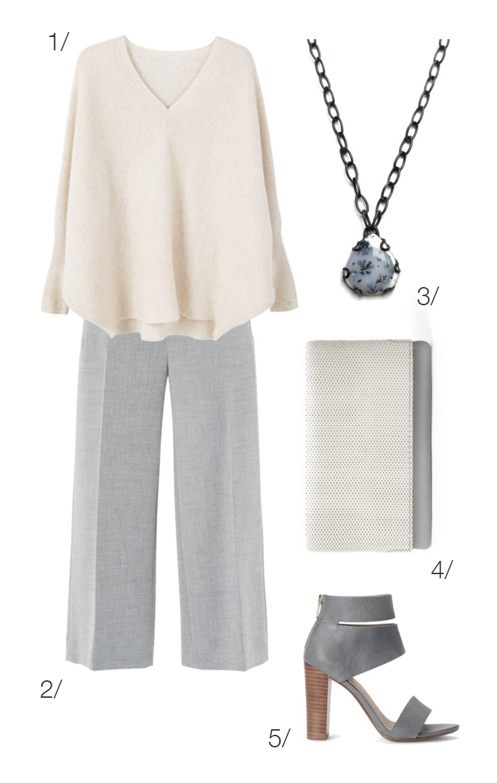 grey and cream: cozy and chic work style // click through for outfit details