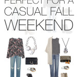 eight casual outfits perfect for a fall weekend