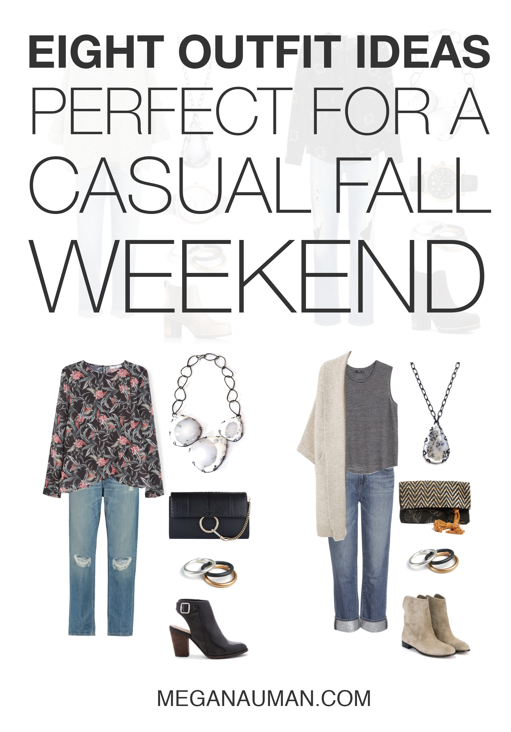 weekend style: 8 casual fall outfit ideas with jeans and boots // click through for outfit details