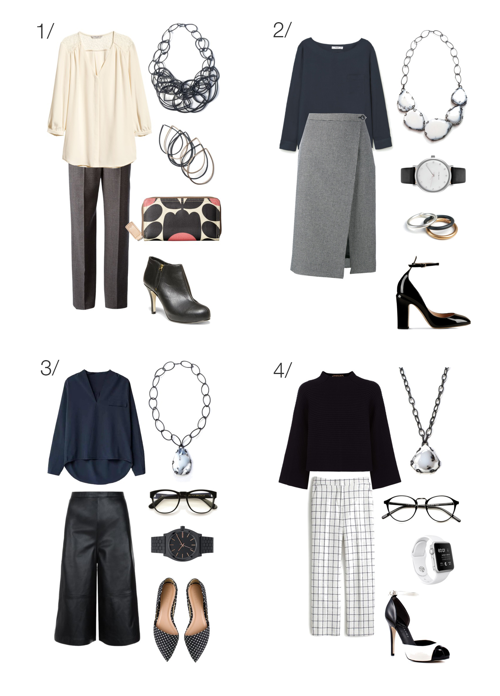professional style: 8 simple and chic outfits to wear to work // click through for outfit details