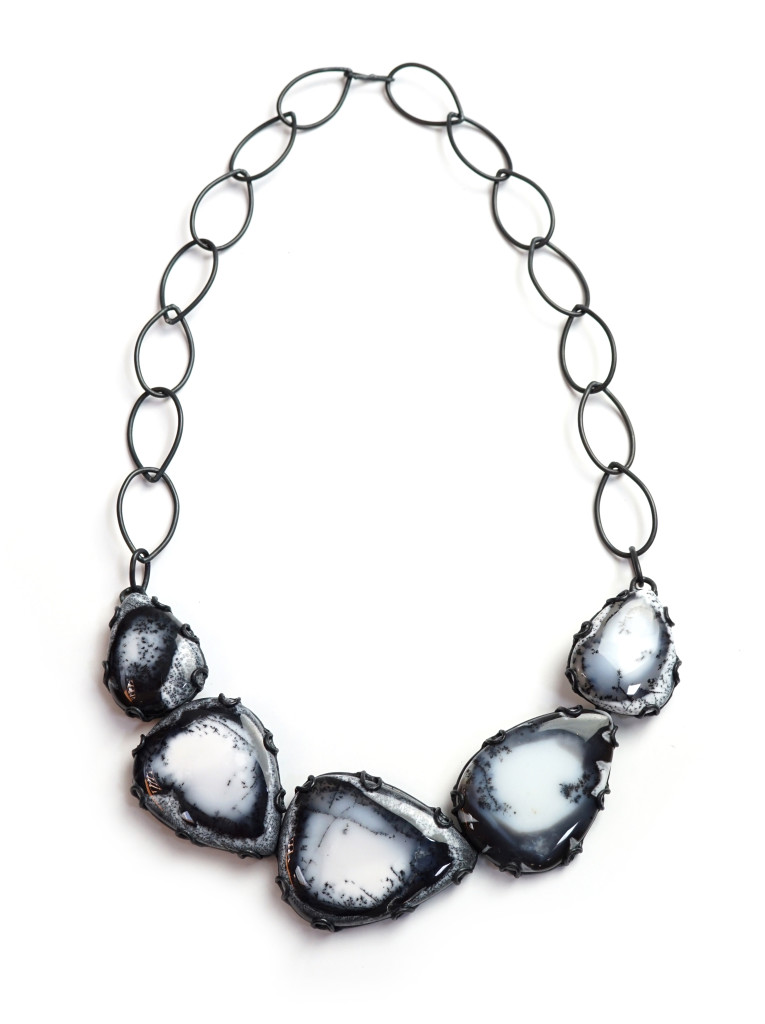 contra composition necklace no. 5: new one of a kind statement jewelry from designer and metalsmith Megan Auman