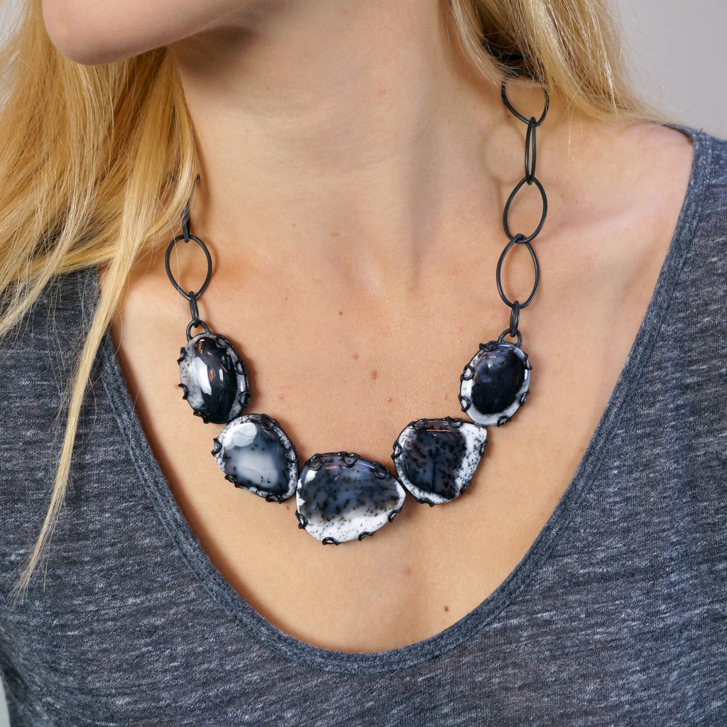 one of a kind bold bib statement necklace