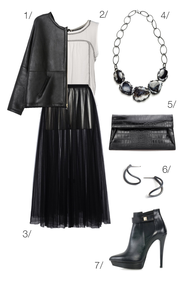 chic and edgy holiday party style // click through for outfit details