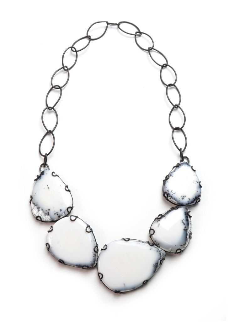 contra composition necklace no. 11: new one of a kind statement jewelry from designer and metalsmith Megan Auman