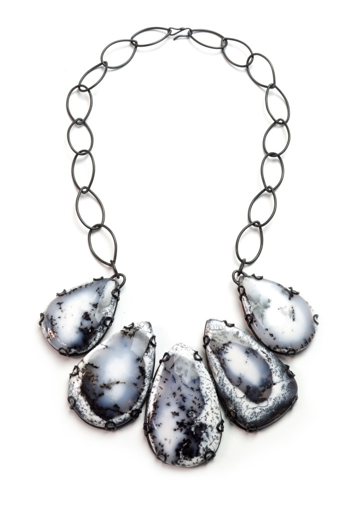 contra composition necklace no. 12: new one of a kind statement jewelry from designer and metalsmith Megan Auman