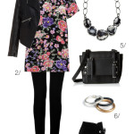 how to make a summer floral dress edgy for fall
