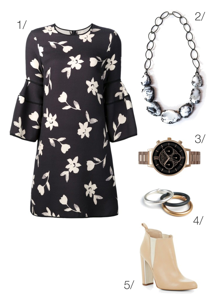 make a floral dress more funky by wearing it with ankle boots // click through for outfit details