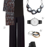yes you can… wear a statement necklace over a beautifully patterned coat