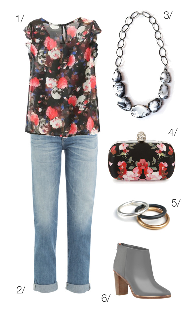 casual style: fall florals with skulls // click through for outfit details