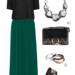 holiday party style: maxi skirt