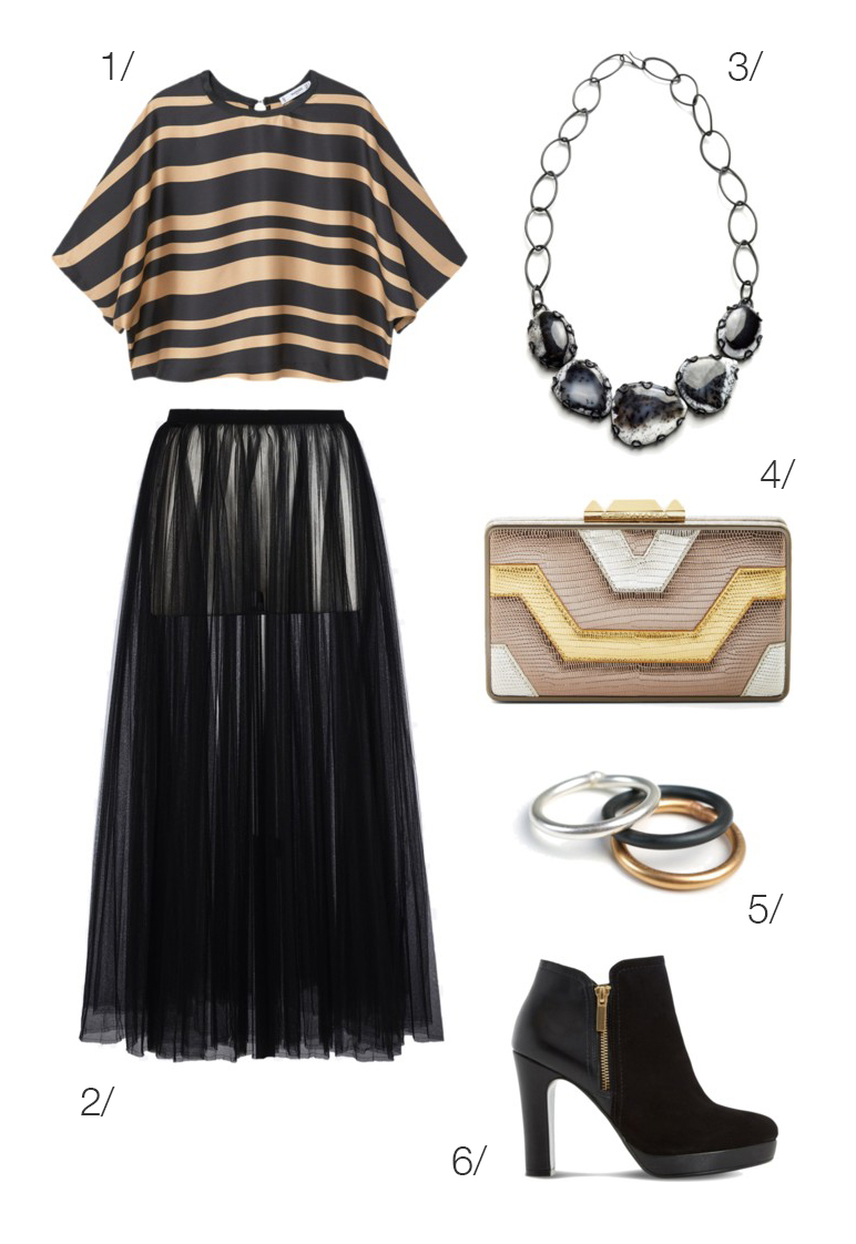 mixing metallics: holiday party style // click through to shop this outfit