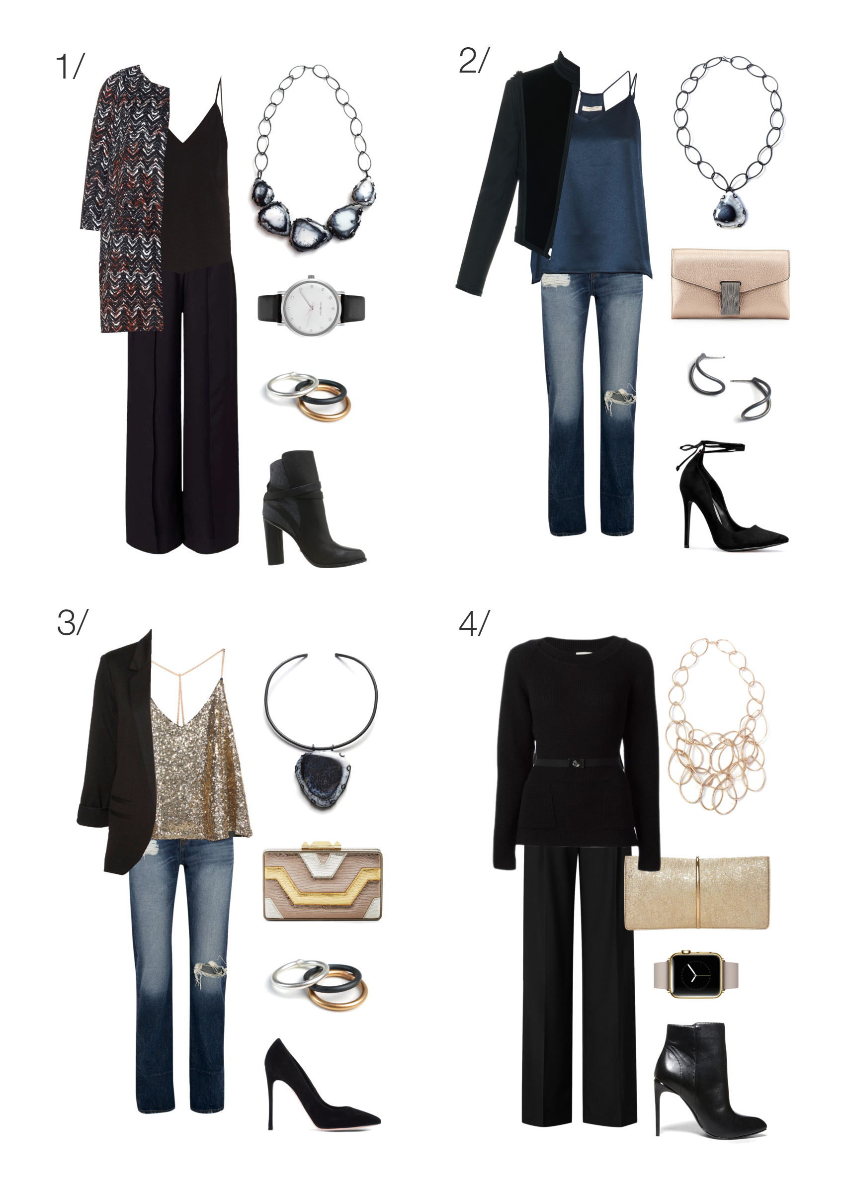 8 chic ways to wear pants to a holiday party // click through for outfit details