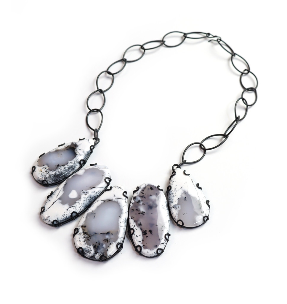 Contra Composition statement necklace