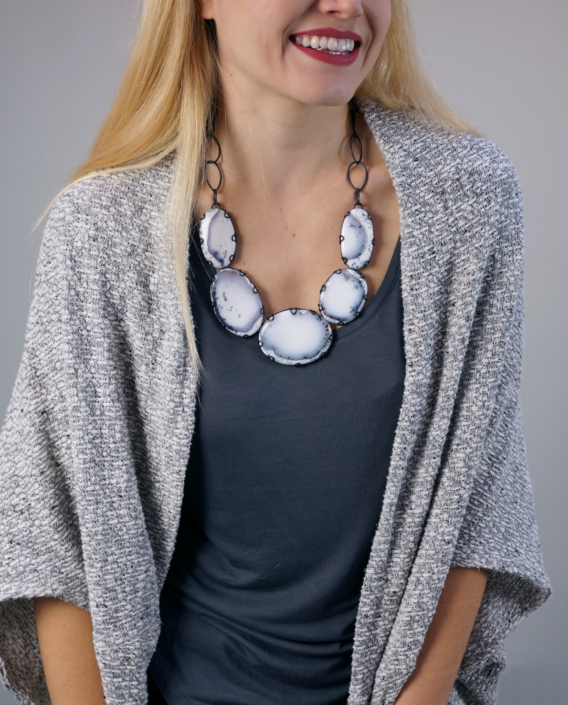 what makes the Contra Composition statement necklace so comfortable to wear? click through for details