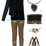 holiday party style: gold pants