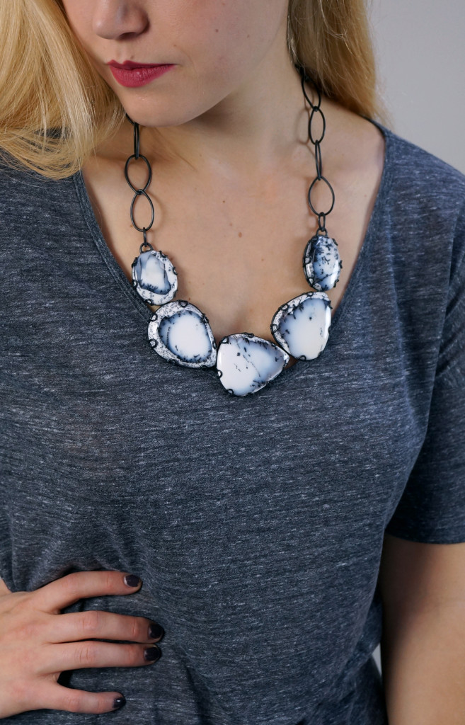 how spending a year painting rekindled my love for jewelry // one of a kind Contra Composition statement necklace by Megan Auman