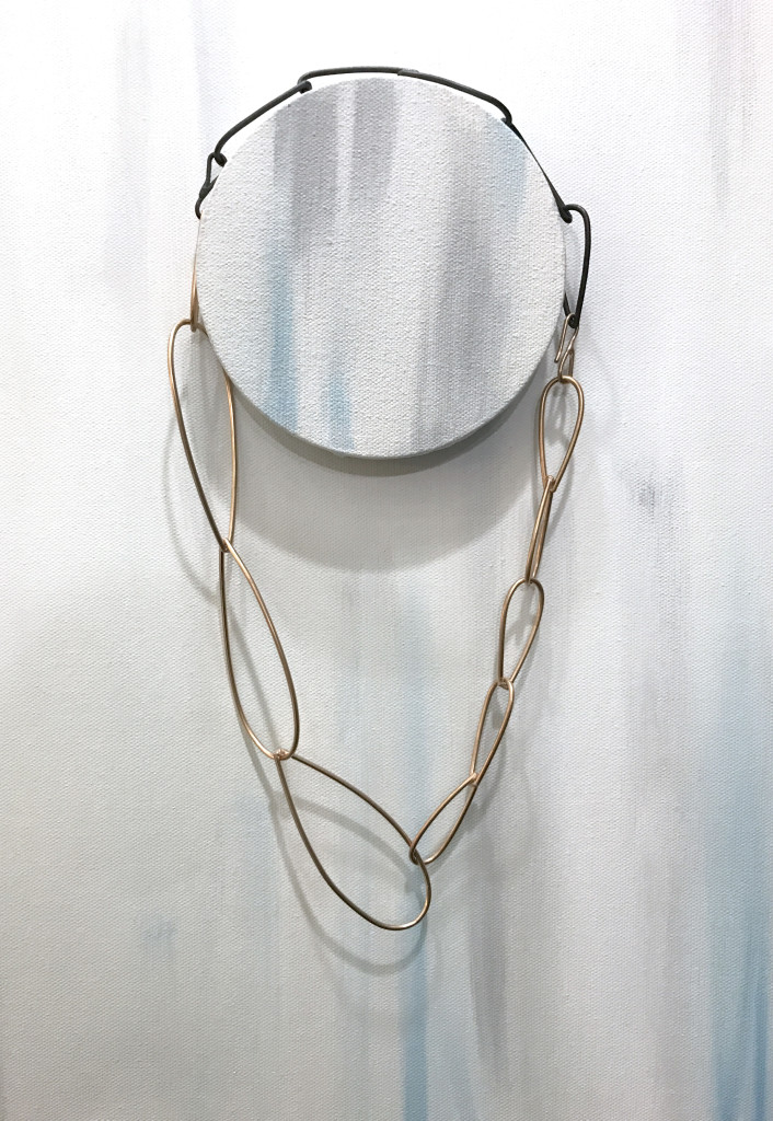 bronze and steel modern minimal statement necklace // modular collection by megan auman