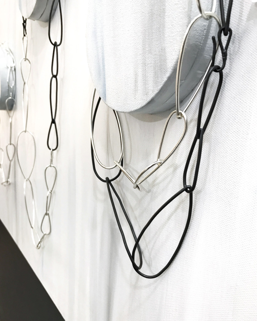 steel and silver modern minimal statement necklaces // modular collection by megan auman