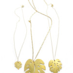 the Monstera leaf pendant is now available in three different sizes!